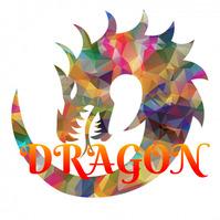 dragon fire-spewing dragon fire dragon 3d Logo template