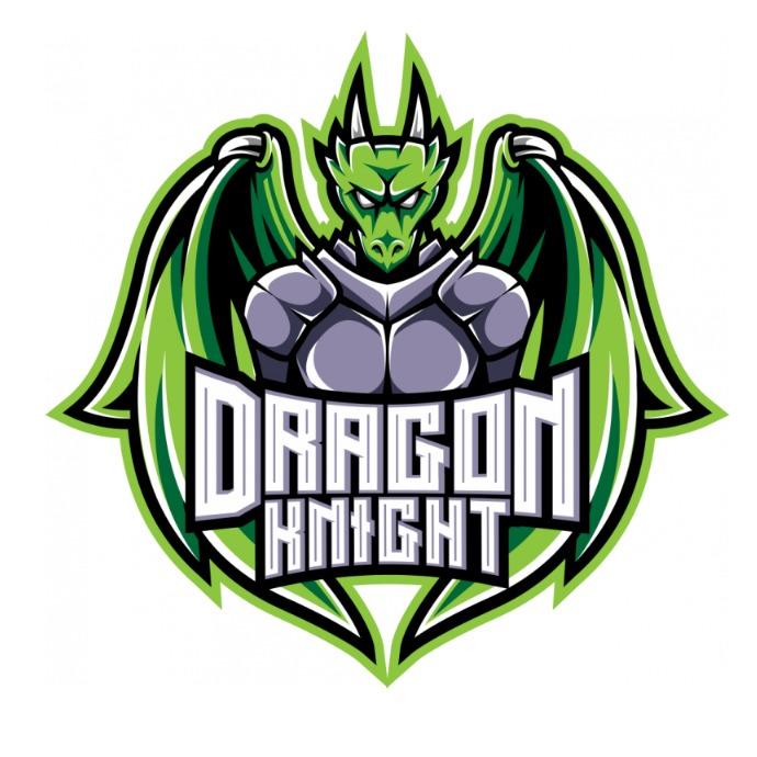 Dragon Knight Mascot Logo template
