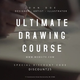 Drawing Course Motion Poster