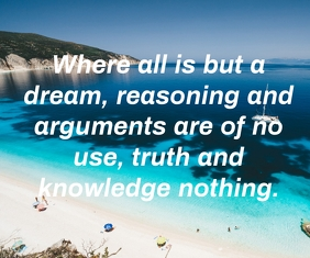dream and knowledge quote template Mittelgroßes Rechteck