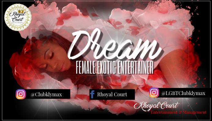 Dream business card template postermywall dream business card colourmoves