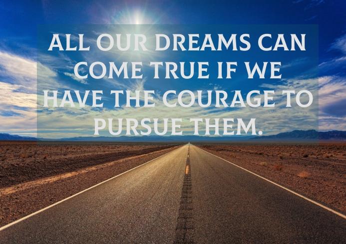 DREAM COME TRUE QUOTE TEMPLATE A1
