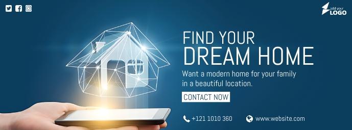 Dream Home Ad Facebook Omslag Foto template