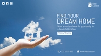 Dream Home Ad Twitter-bericht template