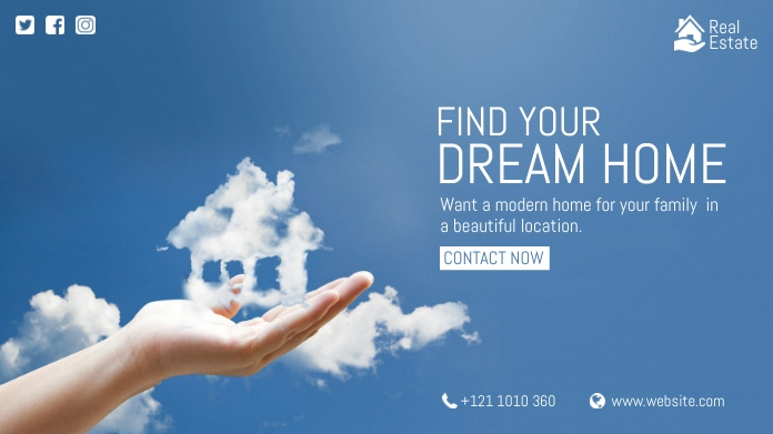 Dream Home Ad Pos Twitter template