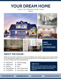 dream home advertisement flyer template desig Volante (Carta US)