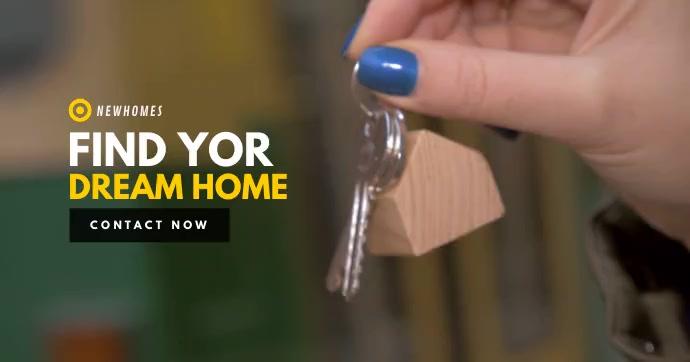 Dream Home Video Template Imagem partilhada do Facebook