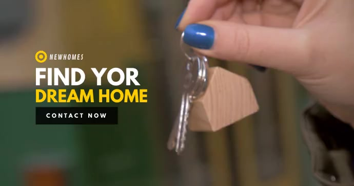 Dream Home Video Template Imagen Compartida en Facebook