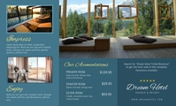 Dream Hotel Elegant Trifold Brochure Back US na Legal template