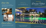 Dream Hotel Elegant Trifold Brochure Front US na Legal template