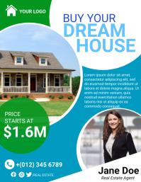Dream House Flyer Template Folheto (US Letter)