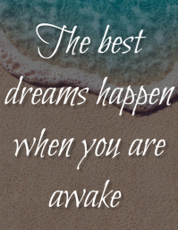 Dream Quotes Løbeseddel (US Letter) template