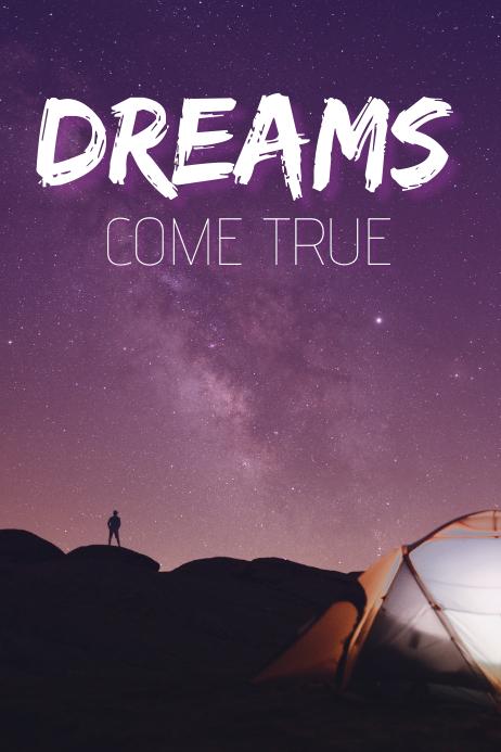 Dreams come true quote template Poster