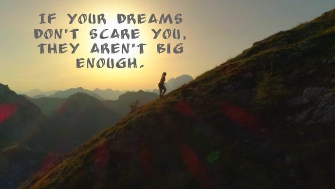 Dreams Facebook-omslagvideo (16: 9) template