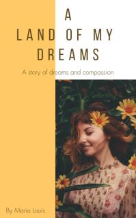 Dreamy Sunflower Girl Yellow Book Cover Templ