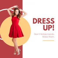 Dress up - Product display ad Instagram Post template