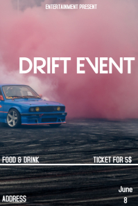 Drift event flyer template
