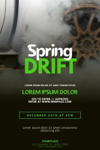 Drift Event Video Promotion Ad Template flyer