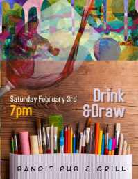 Drink and Draw Event Flyer