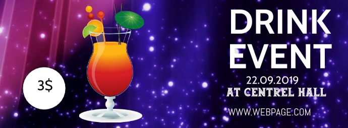 Drink event facebook cover template
