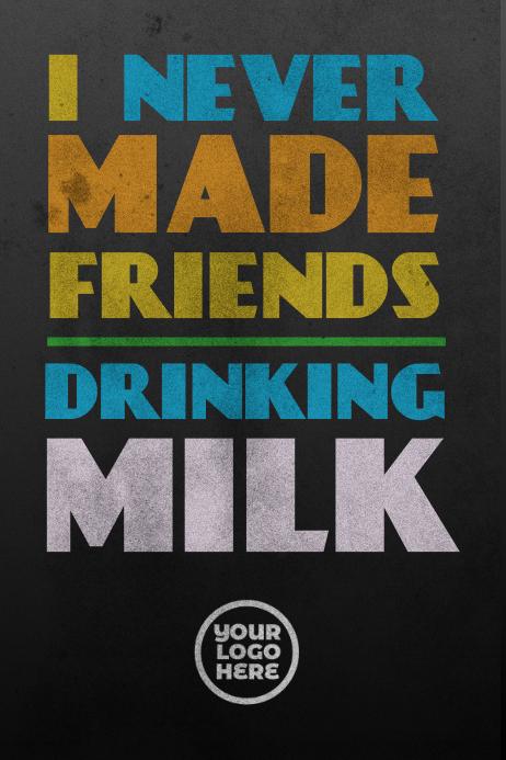 Drinking Milk Bar Poster