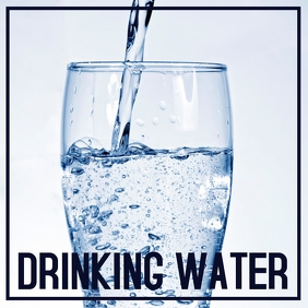 Drinking Water Sign Board Template Isikwele (1:1)