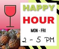 drinks/happy hour/restaurant/menus/bar ad
