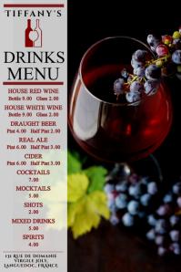 Drinks Menu Bar Pub Poster Template