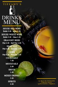 Drinks Menu Poster Template