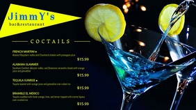 Drinks Video Menu template