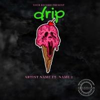 Drip music video Mixtape/Album Cover Art ปกอัลบั้ม template