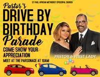 Drive-by Birthday Invitation Volantino (US Letter) template