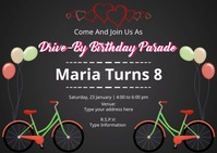 Drive-By Birthday Parade Postcard template