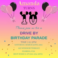 Drive By Birthday Parade Wpis na Instagrama template