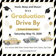 Drive by Graduation party invitation Publicação no Instagram template