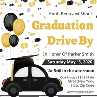 Drive-by graduation party Invitation social m Instagram Post template