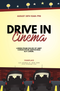 Drive in cinema flyer template