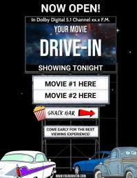 DRIVE IN 传单(美国信函) template