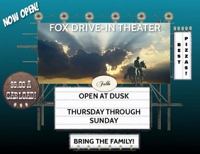 DRIVE IN Volantino (US Letter) template