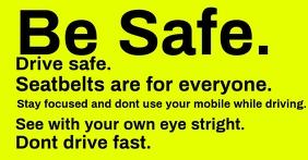 Drive slow and careful template Anuncio de Facebook