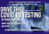 Drive thru covid 19 testing site Postkarte template