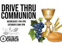 Drive Thru Holy Communion Postcard template