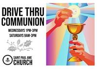 Drive Thru Holy Communion Briefkaart template