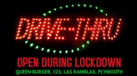 Drive-Thru Open Coronavirus Lockdown Template