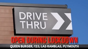Drive Thru Open Coronavirus Video Template