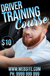 Driver Training Affiche template