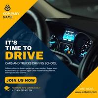 driving school banner video advertisement Instagram na Post template