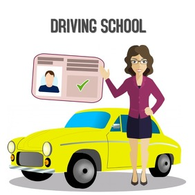 Driving School Logo template