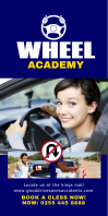 DRIVING SCHOOL Cartel enrollable de 3 × 6 pulg. template