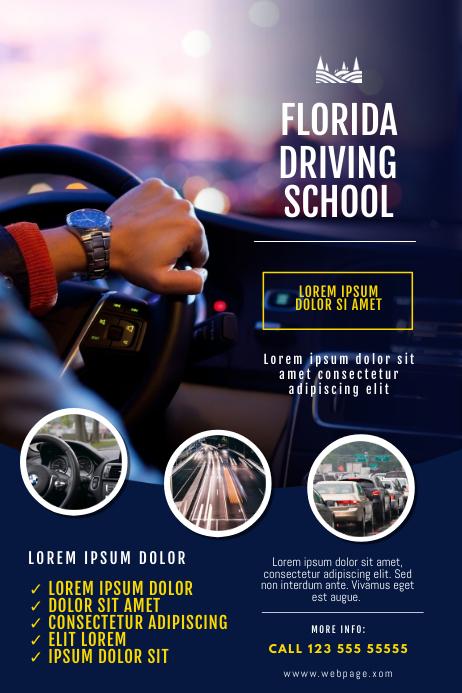 Driving School Flyer Design Template